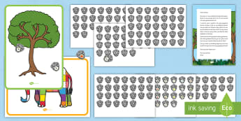 Elmer's Phonics Game Resource Pack - EYFS, Early Years, KS1, Elmer, David McKee, colour, phonics, Letters and Sounds, phonic phases 2 to