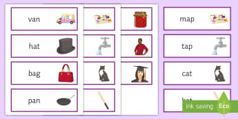CVC Word Cards - word cards, vocabulary, writing, spelling,