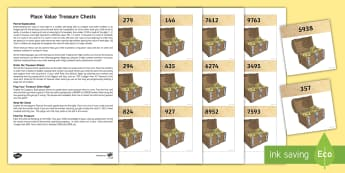 Place Value Treasure Chests Game - Maths, Key Stage 2, Place Value, Pirates, hundreds, tens, units, ones, value, partition, recombine,