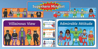 Superhero Themed Growth Mindset Display Pack