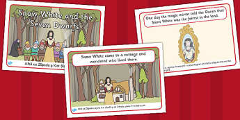Snow White Seven Dwarves Story Sequencing Romanian Translation