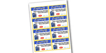 Time Machine Role Play Tickets -time machine, role play, tickets, role play tickets, time machine tickets, time machine role play, tickets for time machine