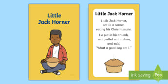 Little Jack Horner Nursery Rhyme IKEA Tolsby Frame - baby signing, baby sign language, communicate with baby, pre verbal baby, tiny talk, sing and sign,