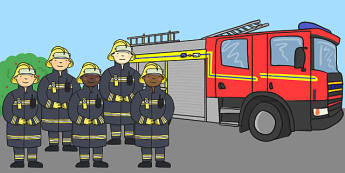 Five Little Firemen Counting Song Cut Outs - firemen, song, cut