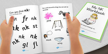 My 'nk' Letter Blend Workbook - workbook, nk, letters, blend, alphabet, activity, handwriting, blends, letter, letter blends, ng and nk word endings worksheets