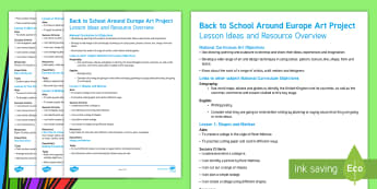 KS1 Back to School Around Europe Art Project Lesson Ideas and Resource Overview - whole class art project, display, collaborative art, european artists, famous artists