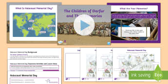 Holocaust Memorial Day Learning From Memories Lesson Pack One - Holocaust Memorial Day, genocide, darfur, rwanda, cambodia, sudan, bosnia