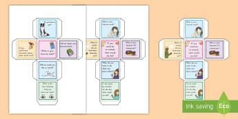 Conversation Starter Dice Activity - common core, speaking and listening, dice, conversation starters, communication
