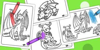 Dragon Colouring Sheets - colouring, sheets, dragon, colour