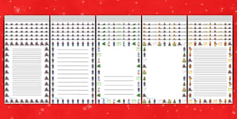 Page Borders to Support Teaching on The Jolly Christmas Postman - the jolly christmas postman, page borders, the jolly postman page borders, christmas page borders