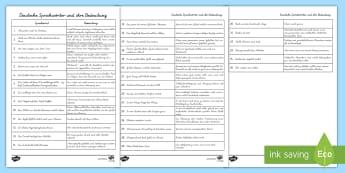 3. Klasse Deutsch Primary Resources - Materialien auf