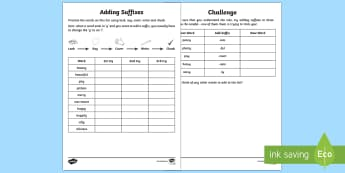 Year 2 Spelling Practice Adding Suffixes to Words Ending with 'y' Homework Activity Sheet - ks1, English, year 2, practice, home learning, home work, homework, practise, Worksheet, SPaG, spell