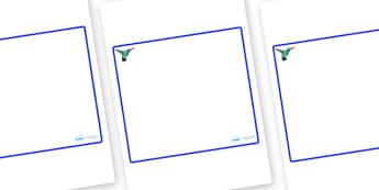 Hummingbird Themed Editable Classroom Area Display Sign - Themed Classroom Area Signs, KS1, Banner, Foundation Stage Area Signs, Classroom labels, Area labels, Area Signs, Classroom Areas, Poster, Display, Areas