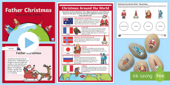 Christmas Around the World Story Stones Activity Pack
