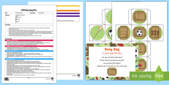 In and Out the Box Busy Bag Plan and Resource Pack - early concepts, in, out, filling and emptying,