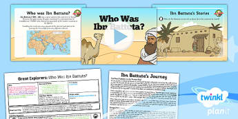 History: Great Explorers: Who Was Ibn Battuta KS1 Lesson Pack 2