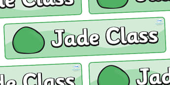 Jade Themed Classroom Display Banner - Themed banner, banner, display banner, Classroom labels, Area labels, Poster, Display, Areas