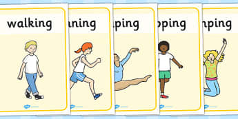 PE Physical Action Posters - posters, pe, physical, display