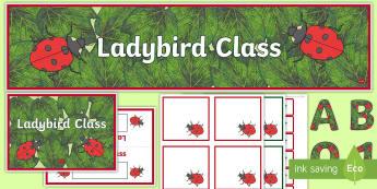 ladybird class Resource Pack - ladybird class Resource Pack - ladybird, pack, class banner, display banner, table name, ladybird di