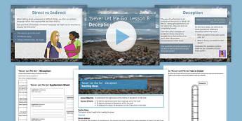 Never Let Me Go Lesson Pack 8: Deception - Deception, Euphemism, Lie, Deceit