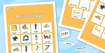 Ancient Egyptian Vocabulary Poster - ancient egyptian, display posters, themed posters, image, pictures, key words, ancient egyptian vocabulary, vocabulary