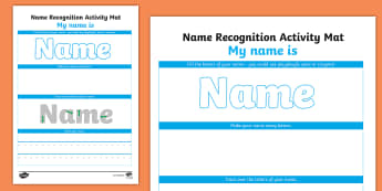 Editable Name Recognition Make Read Write Activity Mat - EYFS, Early Years, name recognition, name writing, Literacy, Letter Formation, Reading, Writing.
