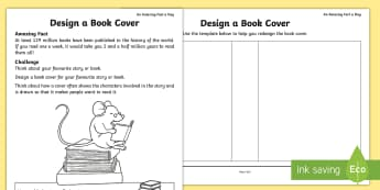 Design a Book Cover Activity Sheet - Amazing Fact Of The Day, activity sheets, powerpoint, starter, morning activity, Worksheet, April, b