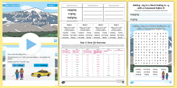 Year 2 Term 2A Week 2 Spelling Pack - Spelling Lists, Word Lists, Spring Term, List Pack, SPaG