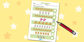 The Lion And The Mouse Counting Sheet - counting sheet, maths