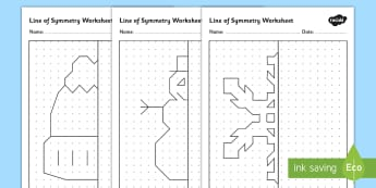 Winter Themed Symmetry Activity Sheets - winter, symmetry, worksheet