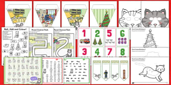 Christmas Cat Themed Lesson Ideas and Resource Pack - mog, christmas cat, lesson ideas, resource, pack