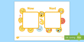 Emoji-Themed Now and Next Visual Aid - Tense, KS1, Key Stage One, SEN, Nautical, Board, Individual, Group, Visual, Aid, Organisation