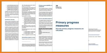 Primary Progress Measures 2017 Guidance - Assessment, Primary assessment, progress, progress measures, primary progress measures