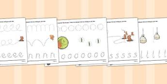 The Tale of Squirrel Nutkin Pencil Control Sheets - squirrel nutkin, pencil control