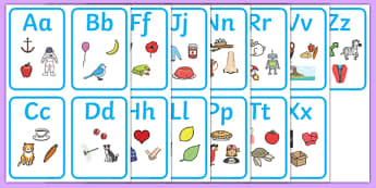 Alphabet Picture Cards - ESL Alphabet Cards