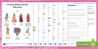 The Story of Rama and Sita Play Script Differentiated Reading Comprehension Activity - ks2, story, Hinduism, Hindus, Diwali, Rama, Sita., performing playscripts and plays, discuss a wide