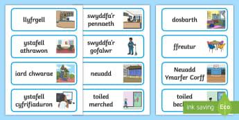 Arwyddion a Labeli O Gwmpas yr Ysgol - signs, labels, around, school, arwyddion, labeli, ysgol,,Welsh
