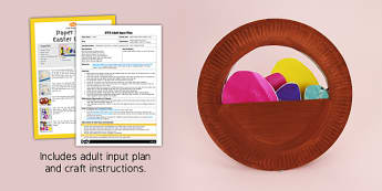 Paper Plate Easter Basket EYFS Adult Input Plan And Craft Pack