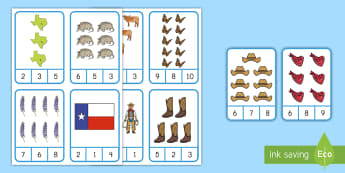Texas Counting Clip Cards Activity - texas independence Day, State of texas, counting, texas state symbols, Grip Strength