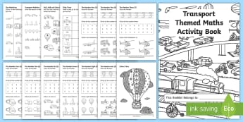 Transport Themed KS1 Maths Activity Book - numeracy, activities