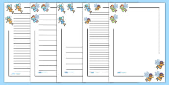 Fairy Page Borders - Fairies, Fairy, topic, fantasy, page border, a4 border, template, A4