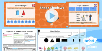 * NEW * PlanIt Maths Y2 Properties of Shapes Lesson Pack 3D Shapes (4) - problems, reasoning,  identify and describe, using and applying, mastery, maths mastery, concrete, a