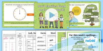 PlanIt Spelling Year 4 Term 2B W4: Word Families Based on Common Words Spelling Pack - Spellings Year 4, Y4, spelling, SPaG, GPS, words, lists, family, families, common words, pack, weekl