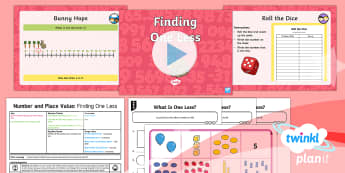 Y1 Number and Place Value One More and One Less to 20 (2) Lesson Pack - one more, one less, more, less, finding, year 1, year one, ks1, maths, ppt, powerpoint, lesson plan,