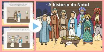 PowerPoint da história do Natal - natal, natais, celebraçao, festa, natividade, solsticio de inverno, inverno, pai natal, papai noel,