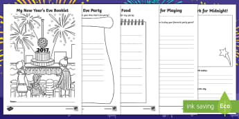 New Year Activity Booklet - New Year resources,January, New Year, New Year's Eve, resolutions, new beginnings, write, writing,