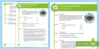 KS1 Take It Outside STEM Activity - Forest School, Woodland and Outdoor Learning, outdoor, outdoor classroom, learning, outdoor learning, outdoor, woodland learning, twinkl outdoor and woodland learning owl get it