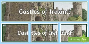 Castles of Ireland Display Banner - ROI Places of Interest, tourism, history, geography, ireland, medieval, castles, normans,Irish