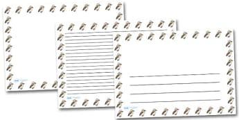 Kookabura Landscape Page Borders- Landscape Page Borders - Page border, border, writing template, writing aid, writing frame, a4 border, template, templates, landscape