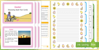 Easter Discovery Sack - EYFS, Early Years, KS1, festival, RE, Understanding the World, easter, discovery, sack